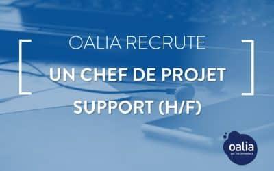 Oalia recrute un chef de projet support (H/F)- Suresnes