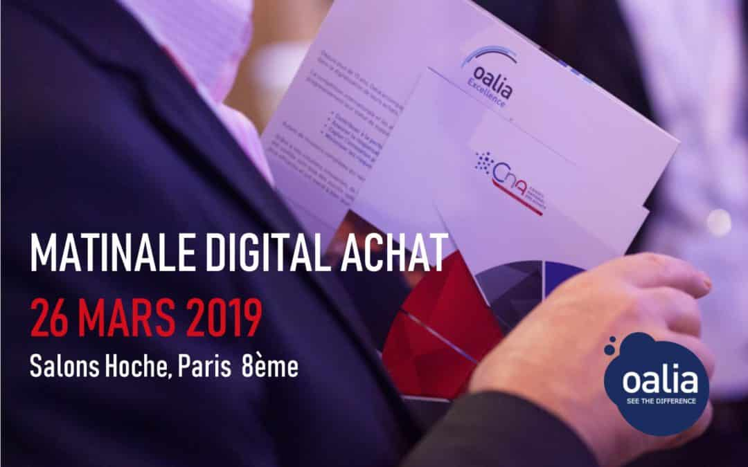 Oalia sponsor of the Digital Procurement Conference| March 26th, 2019| Salons Hoche, Paris 8
