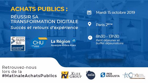 Matinale Achats Publics : Réussir sa transformation digitale – Paris