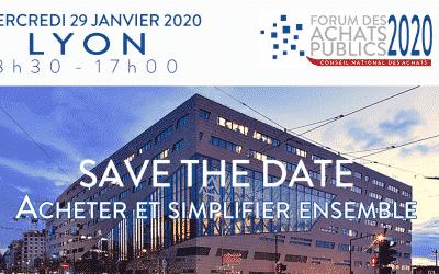 Forum des Achats Publics  Lyon, 29 janvier 2020