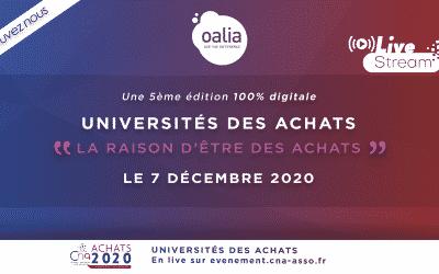 Oalia partenaire des Universités des Achats – un événement du CNA
