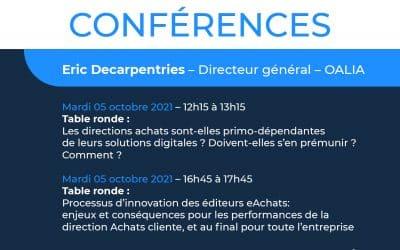 Conférence Salon Solutions – 5 et 6 octobre 2021 Stand G25 – Paris